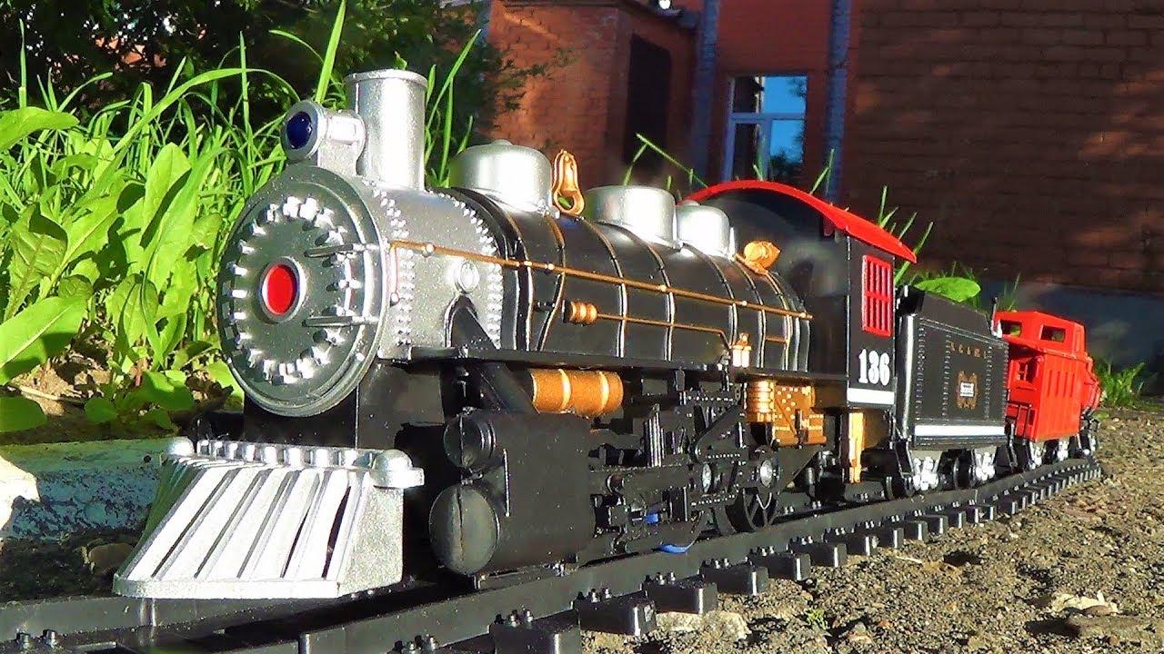 железная дорога и паровоз видео про поезда для детей игрушки для мальчиков
