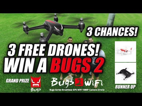 FREE DRONES – 3 CHANCES TO WIN