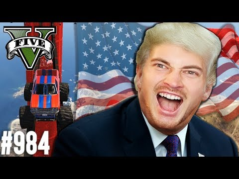Make AMERICA Great Again - Monster Truck PARKOUR (+Download)| GTA 5 - Custom Map Rennen