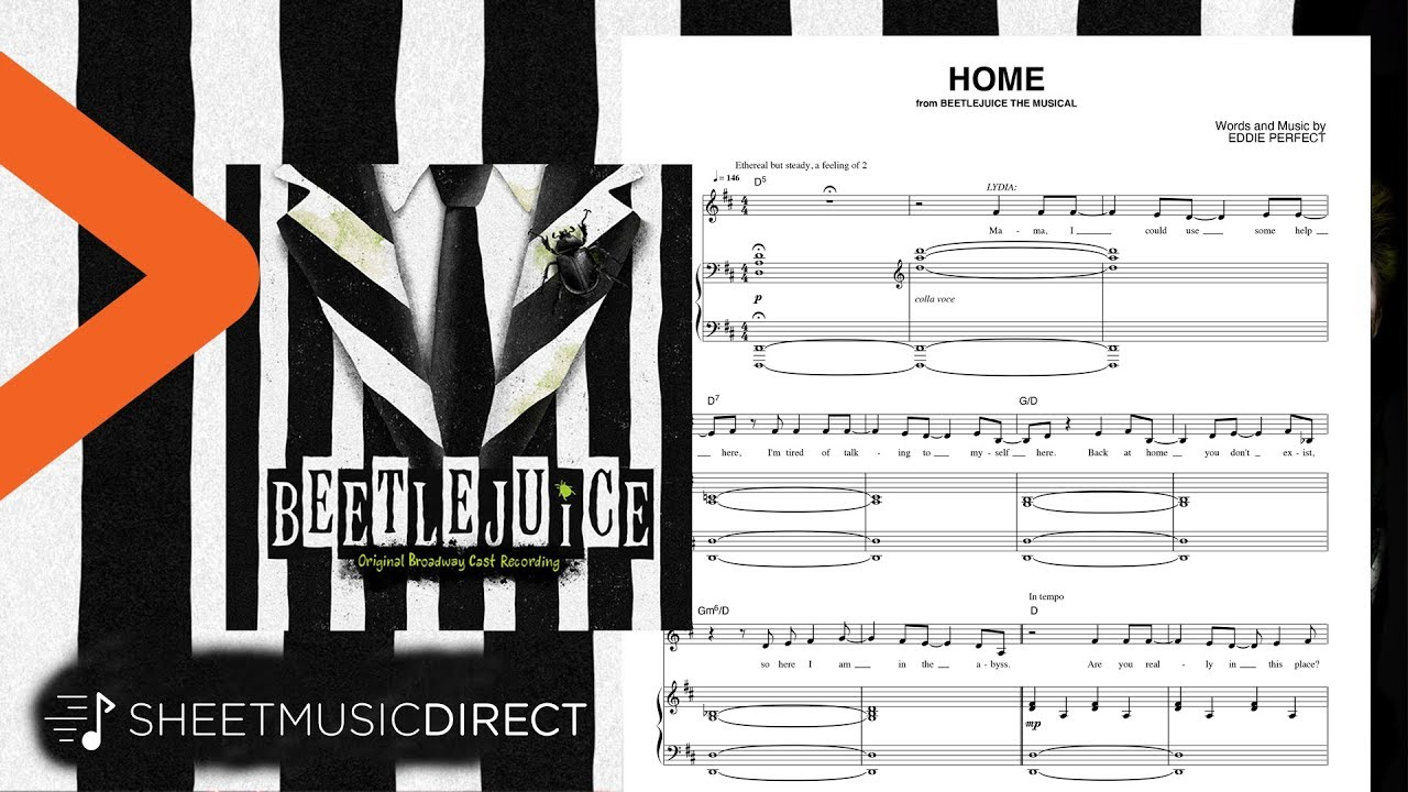 Home Sheet Music From Beetlejuice The Musical Eddie Perfect Piano Vocal Youtube