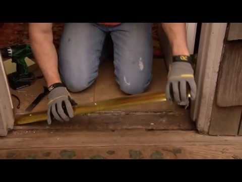How To Install A Standard Door Threshold Youtube