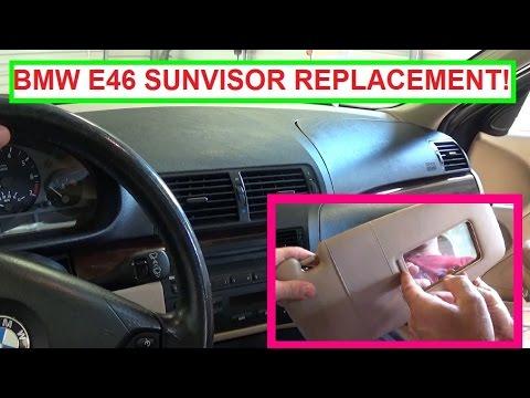 Bmw sun visor repair