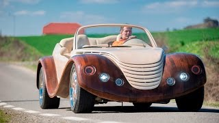 Car-pentry: Man Spends $20,000 Building Wooden Concept Car