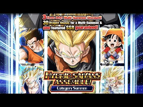 1060 STONES! HYBRID SAIYANS ASSEMBLE! CATEGORY SUMMON [GLOBAL] Dragon Ball Z Dokkan Battle
