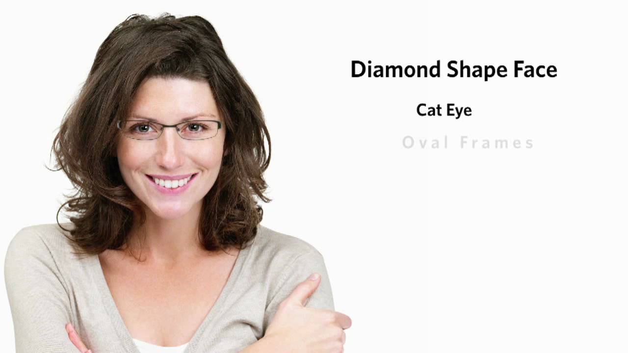 f137fbc7a20 Frames for a Diamond Face Shape - Female - YouTube