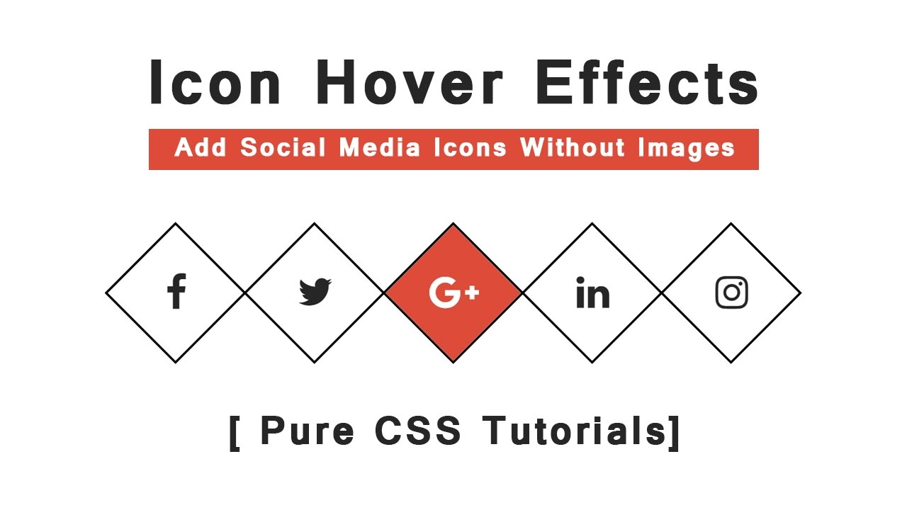 Cool CSS3 Icon Hover Effects - How to add social media icons using font  awesome - Pure CSS Tutorials