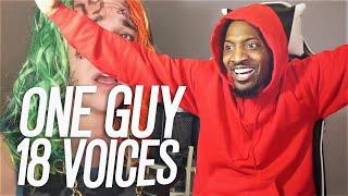 ONE GUY, 18 VOICES! (Post Malone, Eminem, Michael Jackson, etc...) (REACTION!!!)