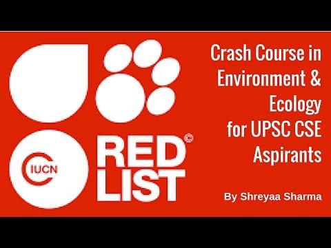 IUCN Red List - Environment & Ecology For UPSC CSE By Shreyaa Sharma