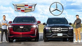 2021 Cadillac Escalade vs Mercedes-Benz GLS // $100,000 SUV Kings Face Off