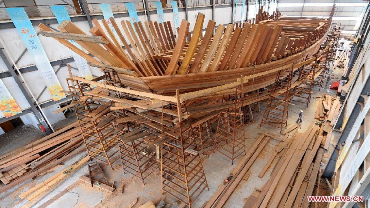 Amazing Modern Technology Biggest Wooden Boat Building ...