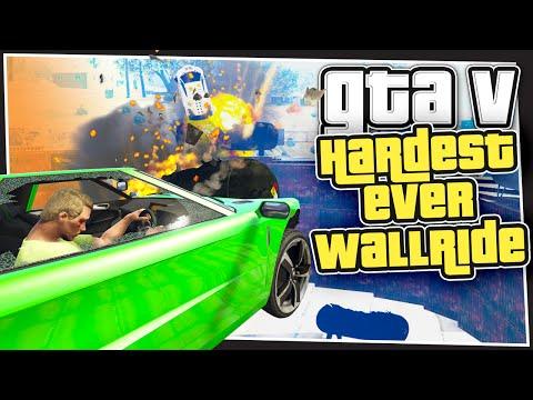 GTA 5 Online - Hardest Ever Wallride (GTA Custom Games)