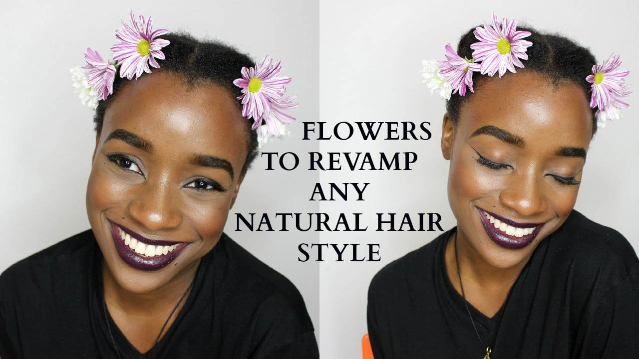 How to use flowers to decorate your hair youtube how to use flowers to decorate your hair izmirmasajfo