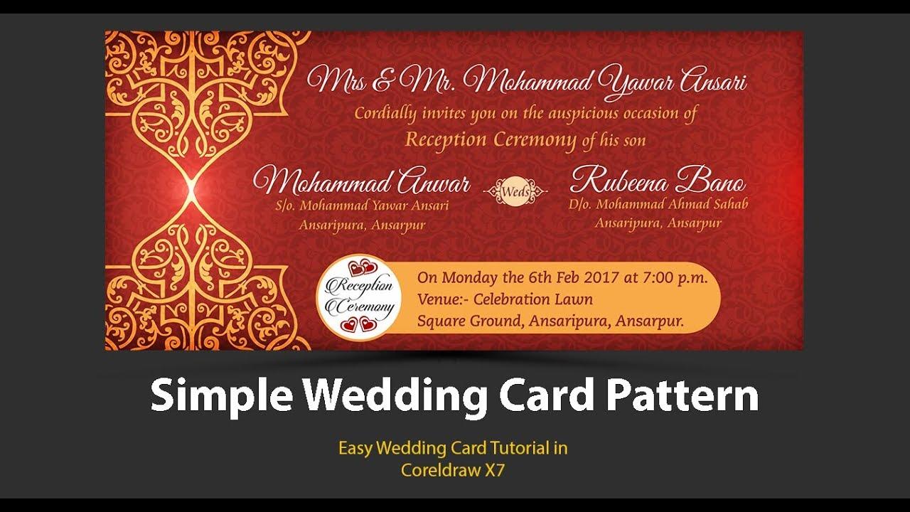 Create Simple Wedding Card Design In Coreldraw X7