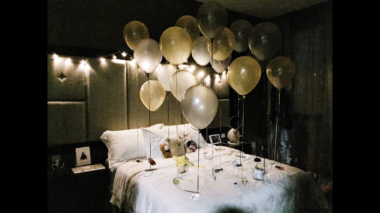 The most amazing birthday surprise happy 20th shuanghui for Room decor ideas for husband birthday