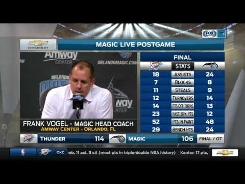 Frank Vogel -- Oklahoma City Thunder vs. Orlando Magic 03/29/2017
