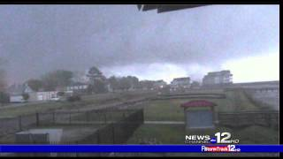 Tornado caught live on WCTI-TV