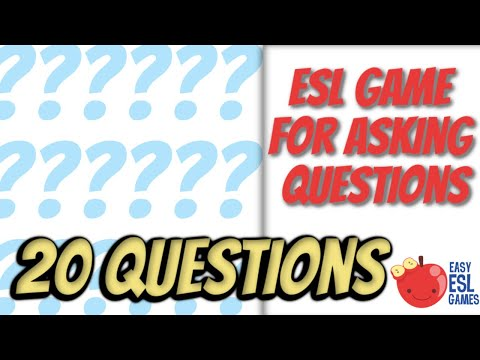 20 Questions - Easy ESL Games Video #12