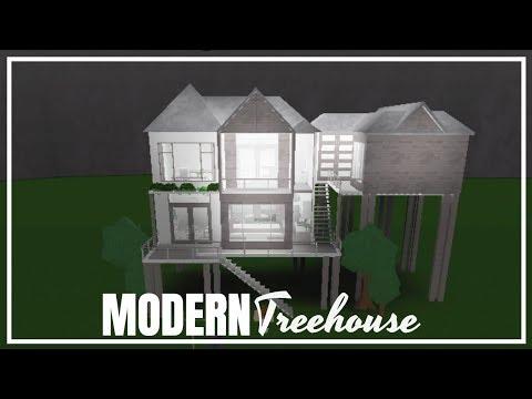 Roblox Bloxburg Modern Treehouse Youtube