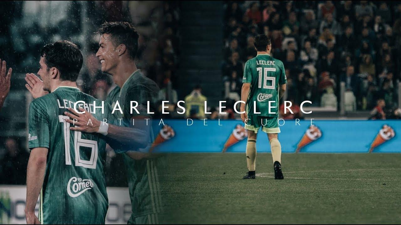 Charles Leclerc - Partita Del Cuore / Charity football game 4K