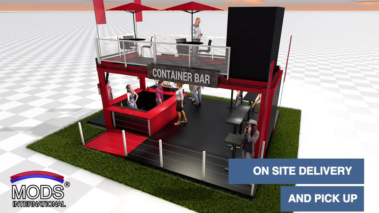 Shipping Container Pop Up Bar Concept Mods International