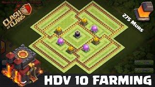 Clash of Clans, HDV 10 Village FARM Nouvelle Maj 275 Murs ! SpeedBuilding