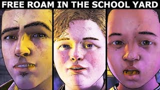 Errant Dans La Cour de l'École - Clem Aide AJ se Faire des Amis - The Walking Dead Saison 4 Ep. 1