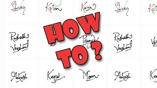 Wie erstellen / zeichnen fingertipart Namen . Android - tutorial [HD] - Fokus.n.Filter