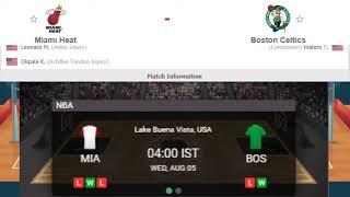Miami Heat vs Boston Celtics Live, NBA 2020 Heat vs Celtics Live Streaming