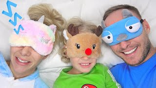 Lev and family play a morning routine