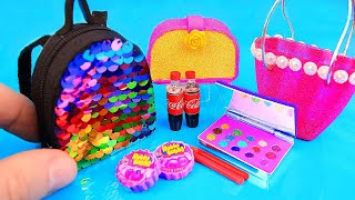 11 diy barbie hacks and crafts eyeshadow palette sequin backpack and more