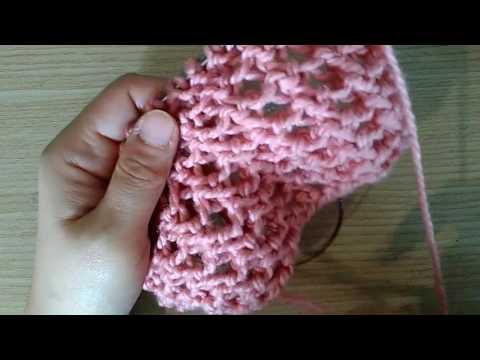 ถักนิตติ้งลายหัวใจ Heart shaped knitting