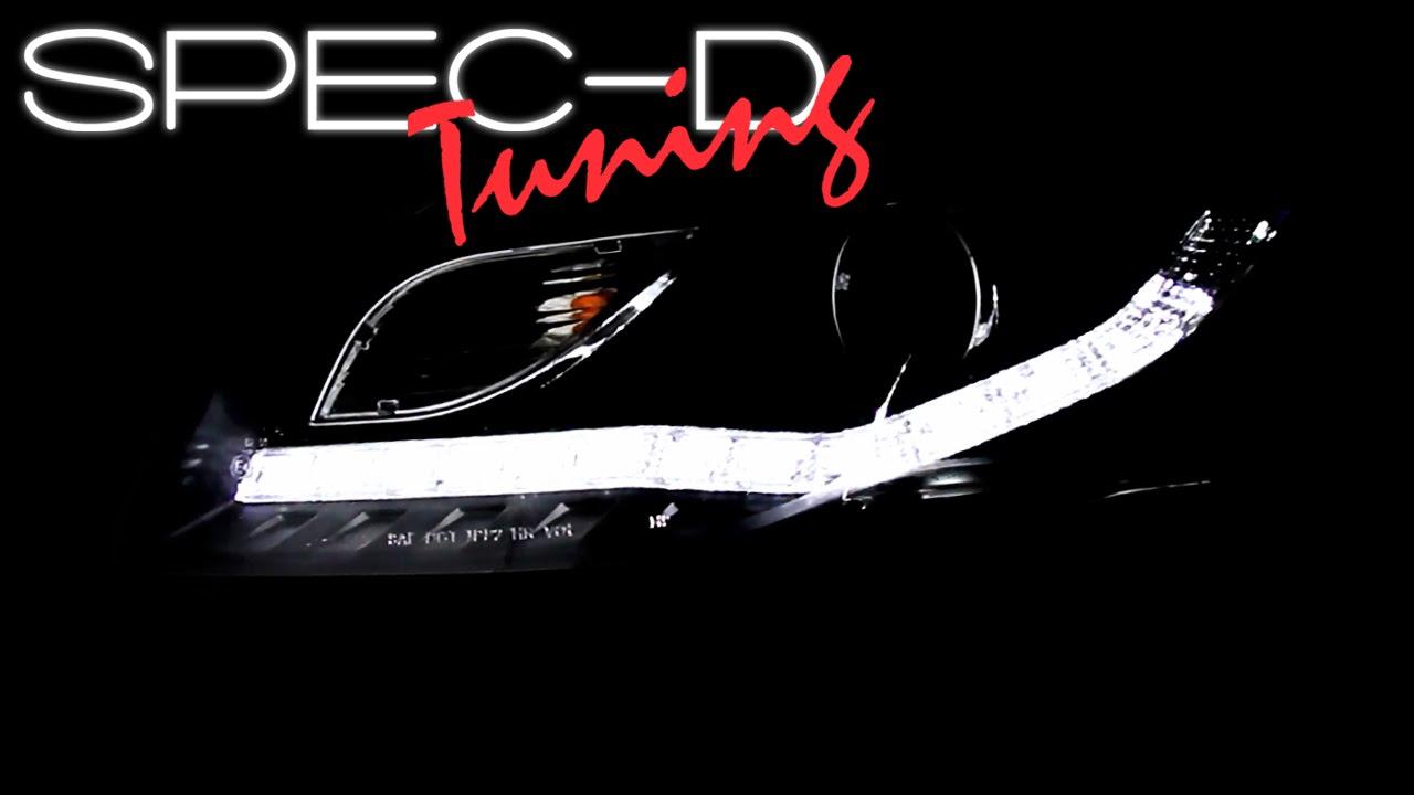 SPECDTUNING DEMO VIDEO AUDI A LED PROJECTOR HEADLIGHTS - 2007 audi a4 headlights