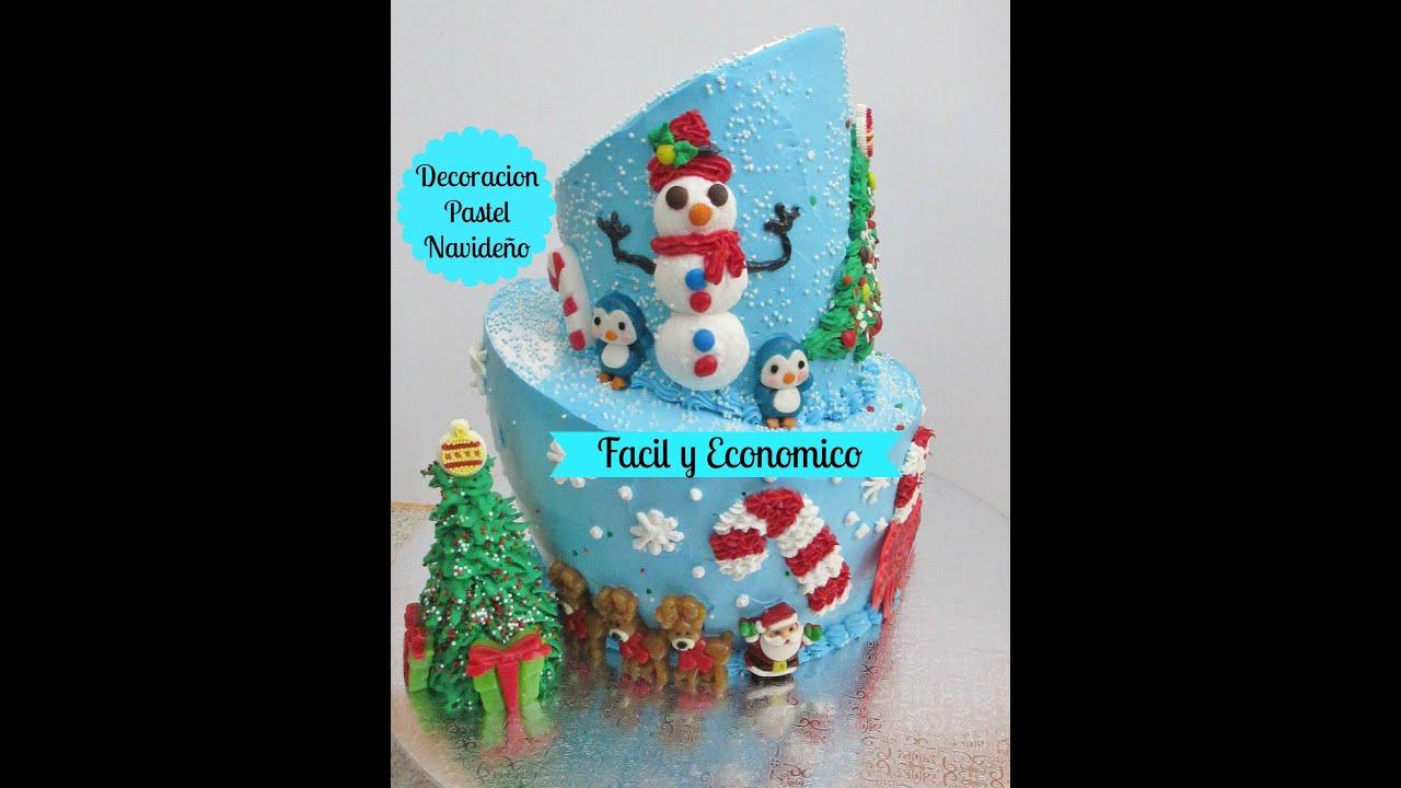 pastel navideo fcil de decorar y econmico madelinus cakes youtube