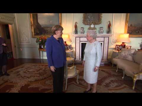 The Queen receives the Chancellor of Germany Angela Merkel at Buckingham Palace