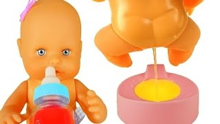 Baby Doll Training Pee Baby Born Doll Toilet - Toy for children videos - disney toy kids