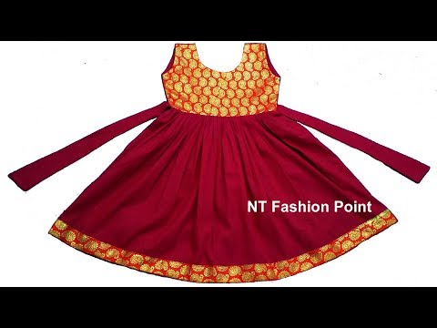 DIY Indian cut girls baby simple dress step by step full video | DIY baby frock for beginner