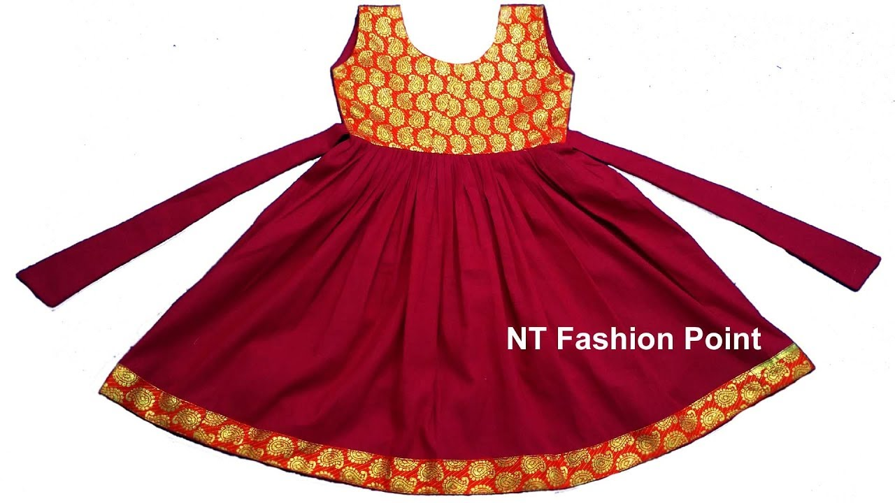 97e60876f6861 DIY Indian cut girls baby simple dress step by step full video