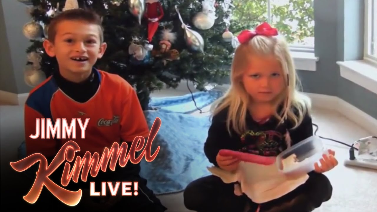 Jimmy Kimmel Christmas.Youtube Challenge I Gave My Kids A Terrible Present