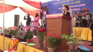 Nishan Bhattarai  and Pragya Shree performing Narayan Gopal's song Timro Manama Lukeko Kura