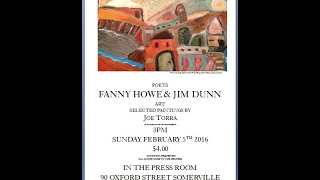 Fanny Howe & Jim Dunn  Reading for Xit The Bear in The Press Room, Feb 5th 2017