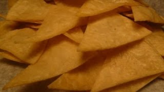 How to make TORTILLA CHIPS - Homemade fresh TORTILLA CHIPS