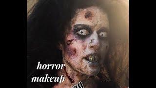 Gurukul anurag makeup mantra...special effect makeup, horror in Hollywood style! 16 days  makeup di