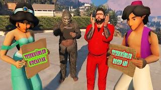 Alaaddin ve Yasemin Süper Recep İvedik ve Koca Ayak Tarafından Kurtarıldı (GTA 5 Hikaye Modu) Video