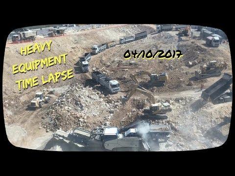 Heavy Equipment Time Lapse , Jerusalem 171004