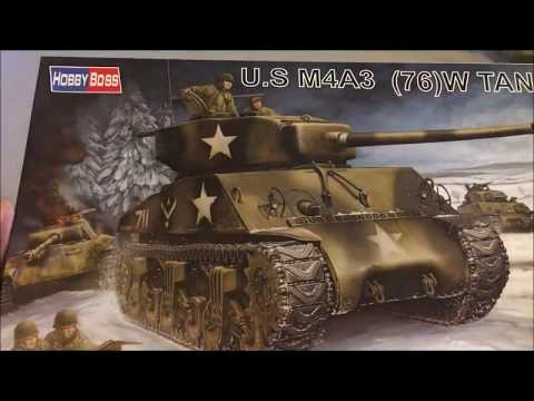 A Look at Hobby Lobby M4A3 Sherman by Hobbyboss in 1 48 Scale