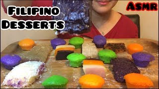 ASMR FILIPINO DESSERTS ( Sticky Eating Sounds) No Talking