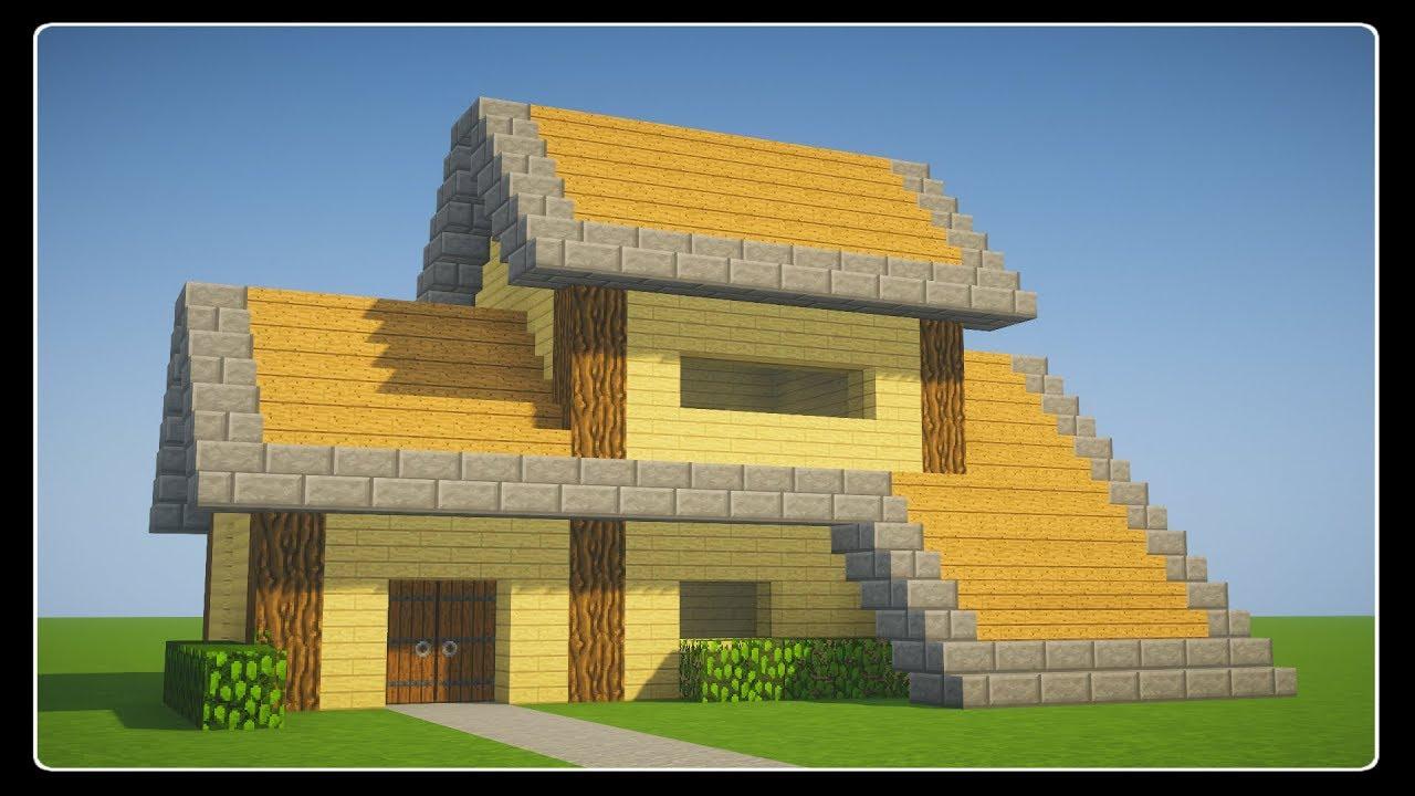 Tuto Belle Maison En Bois De Survie Facile A Faire Minecraft Youtube
