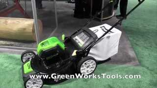 #GreenWorksTools 80 Volt Lawn Mower from #NH_Show: By John Young of the Weekend Handyman