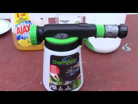 Chameleon Hose End Sprayer, Open Box and In Use