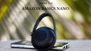 Amazon Basics Nano Bluetooth Speaker - Sound Test